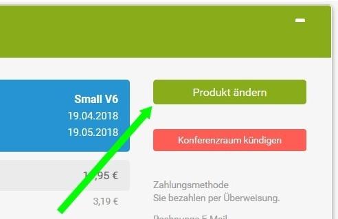 """Klicken Sie auf """"Produkt ändern"""""""